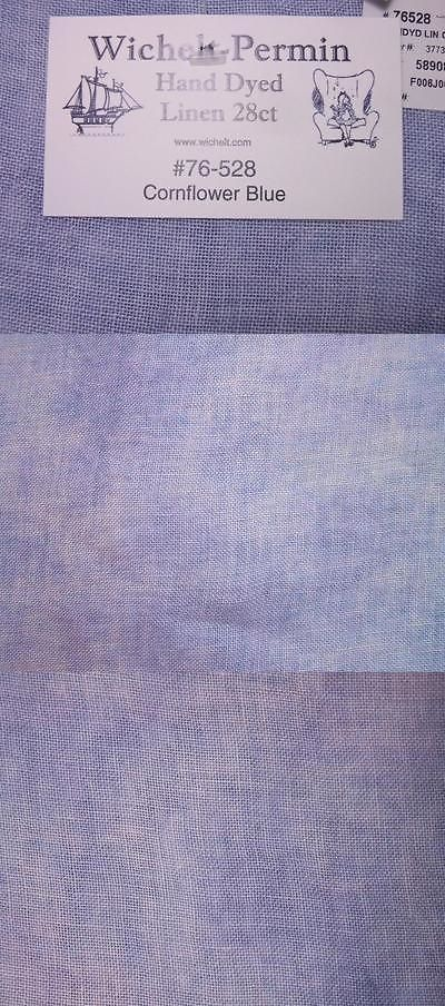 Wichelt Hand Dyed 100/% Linen Cornflower Blue 28 Ct 18 x 26 Cross Stitch Fabric