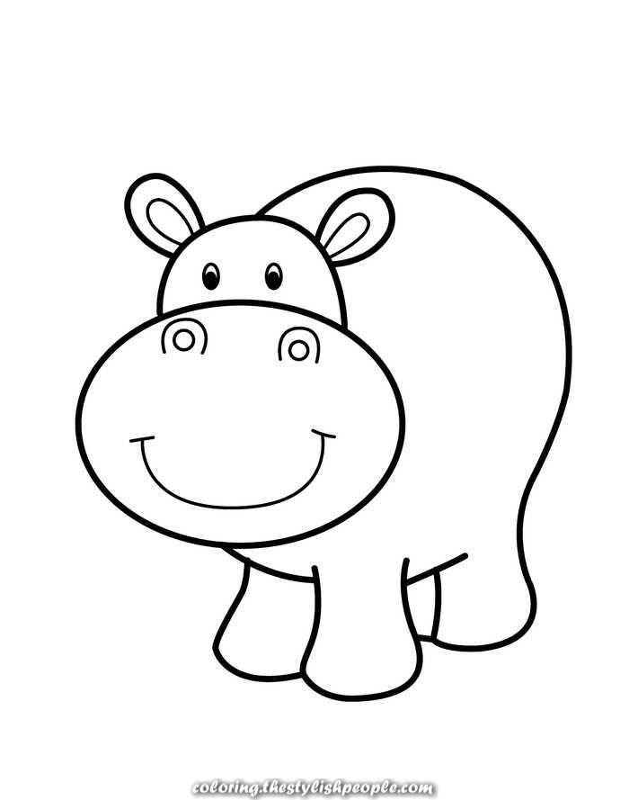 Great Simple Coloring Pages For Youths And Toddlers Zoo Animal Coloring Pages Animal Coloring Pages Cute Coloring Pages