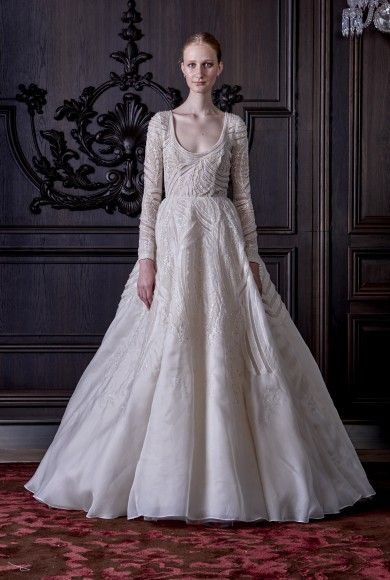 b84f8c1f7 Take a trip into bridal wonderland with Monique Lhuillier s SS  16  collection!