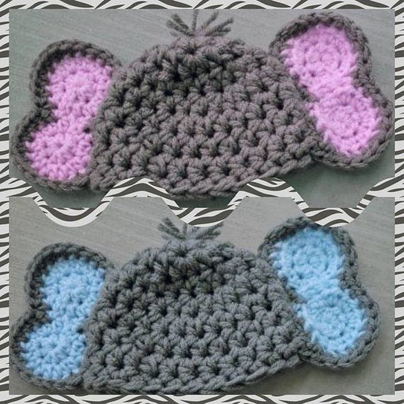 Crochet Elephant Hat Elephant Ears Beanie by LaurenAshleysThings