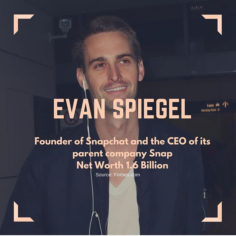 Know your worth! ⁣⁣ ⁣⁣ Snapchat's Founder Evan Spiegel