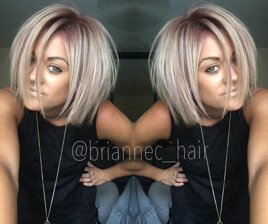 devastatingly cool haircuts for thin hair dusty pink bobs and