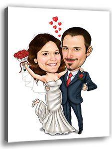 Brautpaar Karikatur