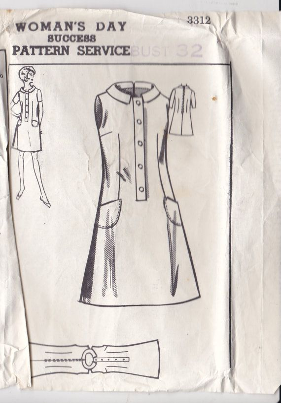1960\'s Sewing Pattern - Womans Day Mail Order Pattern No 3312 of ...