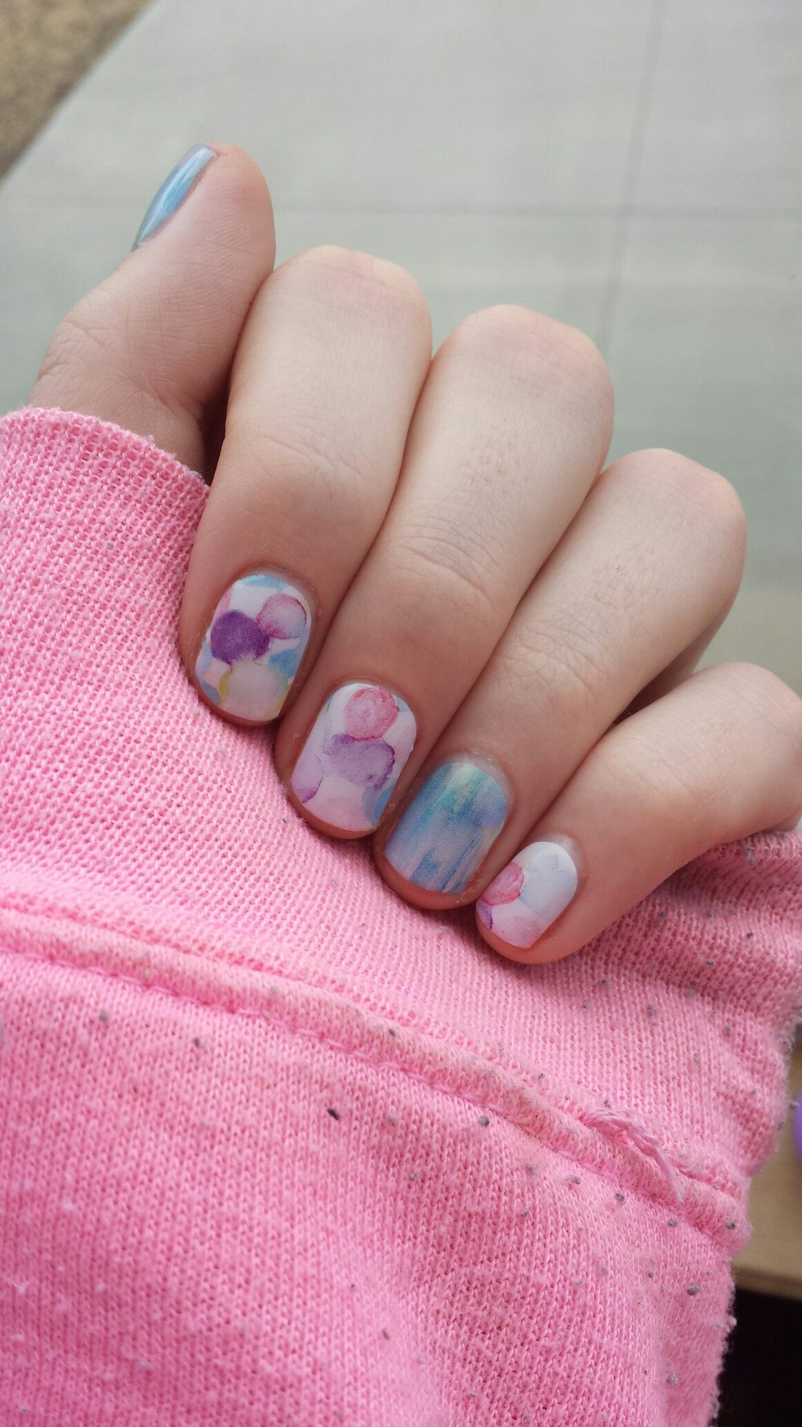 Jamberry Nails -- Sweet Splash and Seascape