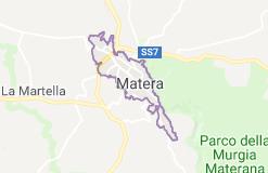 Map Of Matera Italy Basilicata