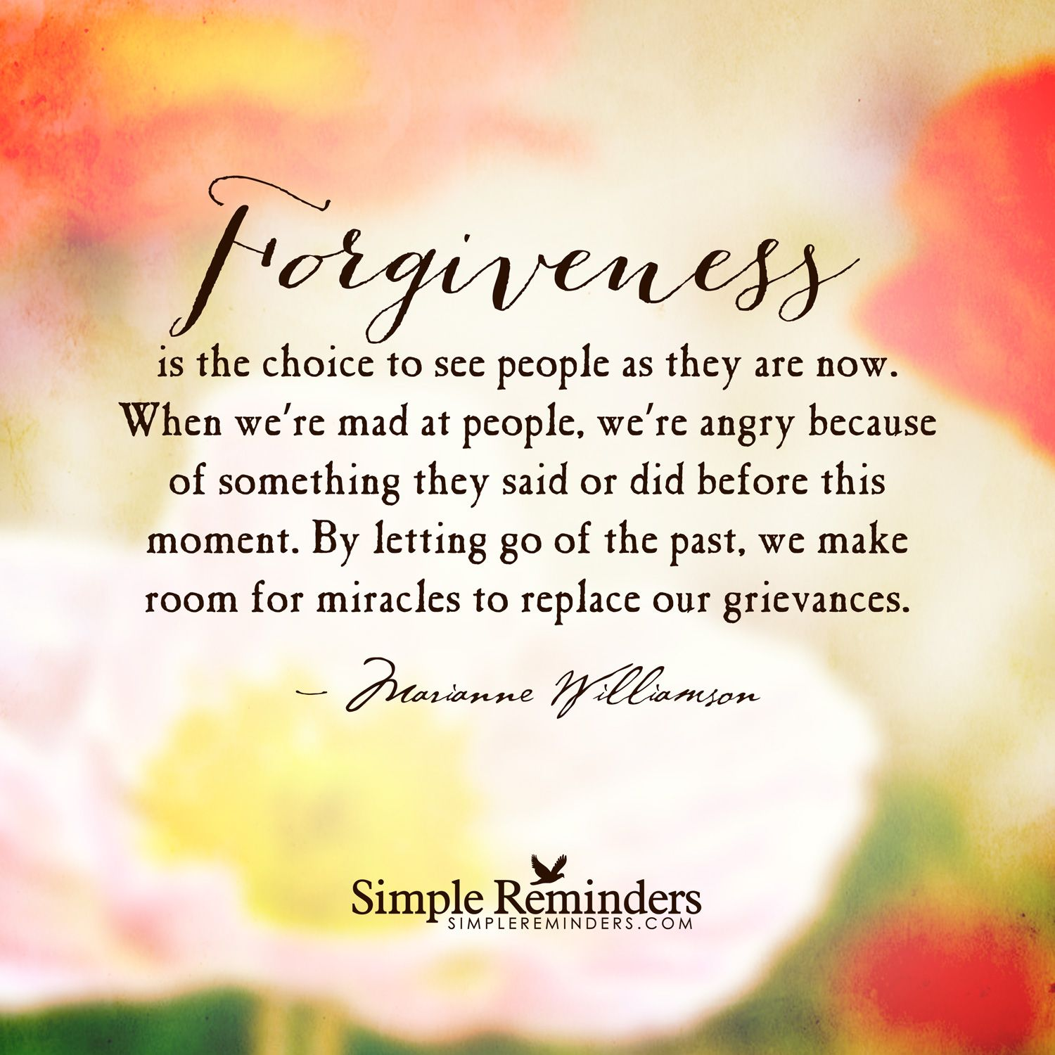 The Choice Quotes Marianne Williamson Quotes On Relationships  Forgiveness Is The
