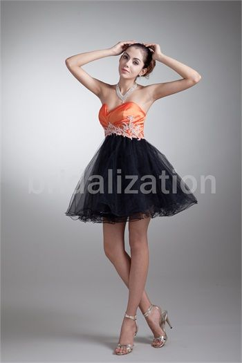 Black Date Dresses Short/ Mini Taffeta Sweetheart Homecoming Dresses