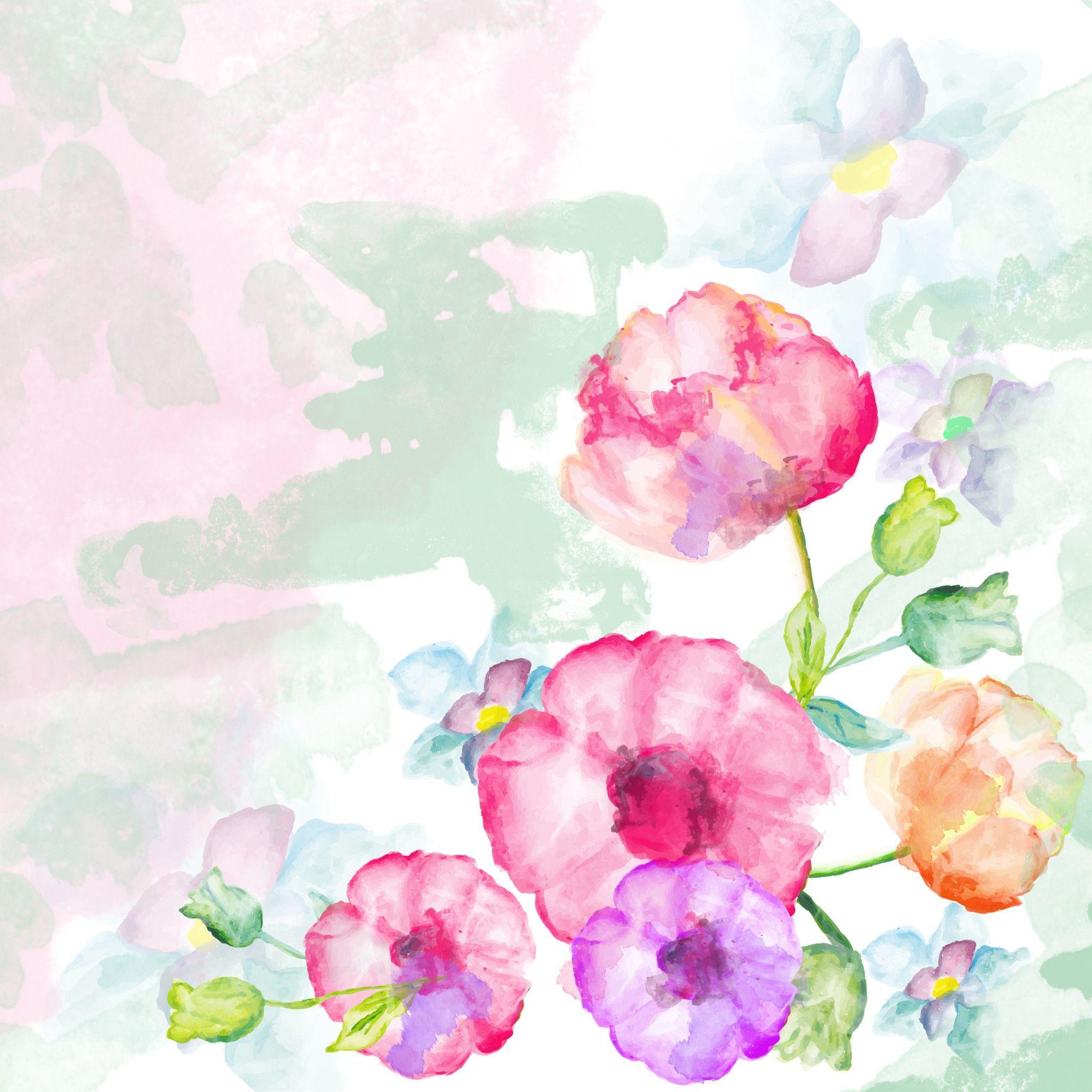 Цветы на открытках акварелью, сентября день знаний