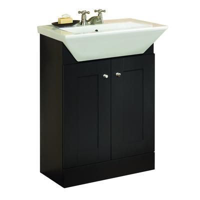 Bathroom Sinks Home Depot Canada magick woods - dark chocolate 2-door vanity with square sink