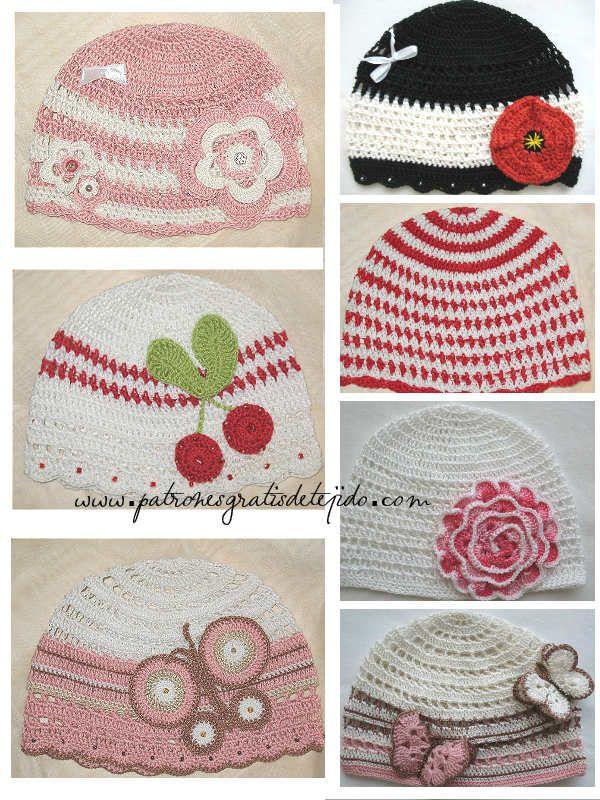modelos de gorros tejidos al crochet con sobrantes de hilos ...