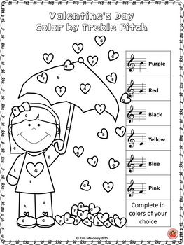 Music Coloring Pages 26 Valentines Day Music Coloring Sheets