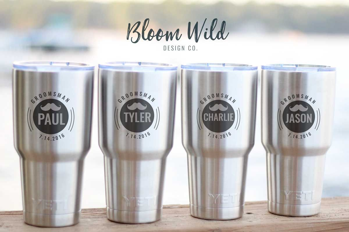 Set of 4 Groomsmen YETI Ramblers - Engraved YETI Rambler