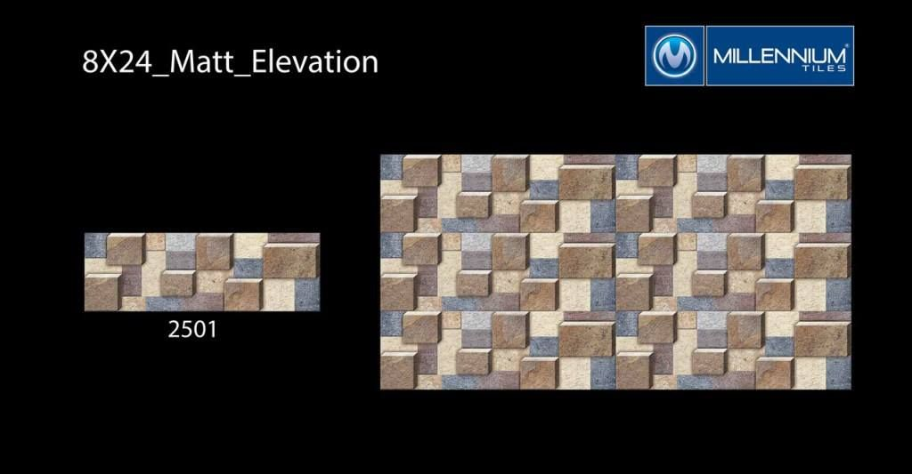 Millennium Tiles 200x600mm 8x24 Ceramic Matt Elevation Wall Series Https Goo Gl Zfymmx Cube Design 2501 Outdoor Walltiles