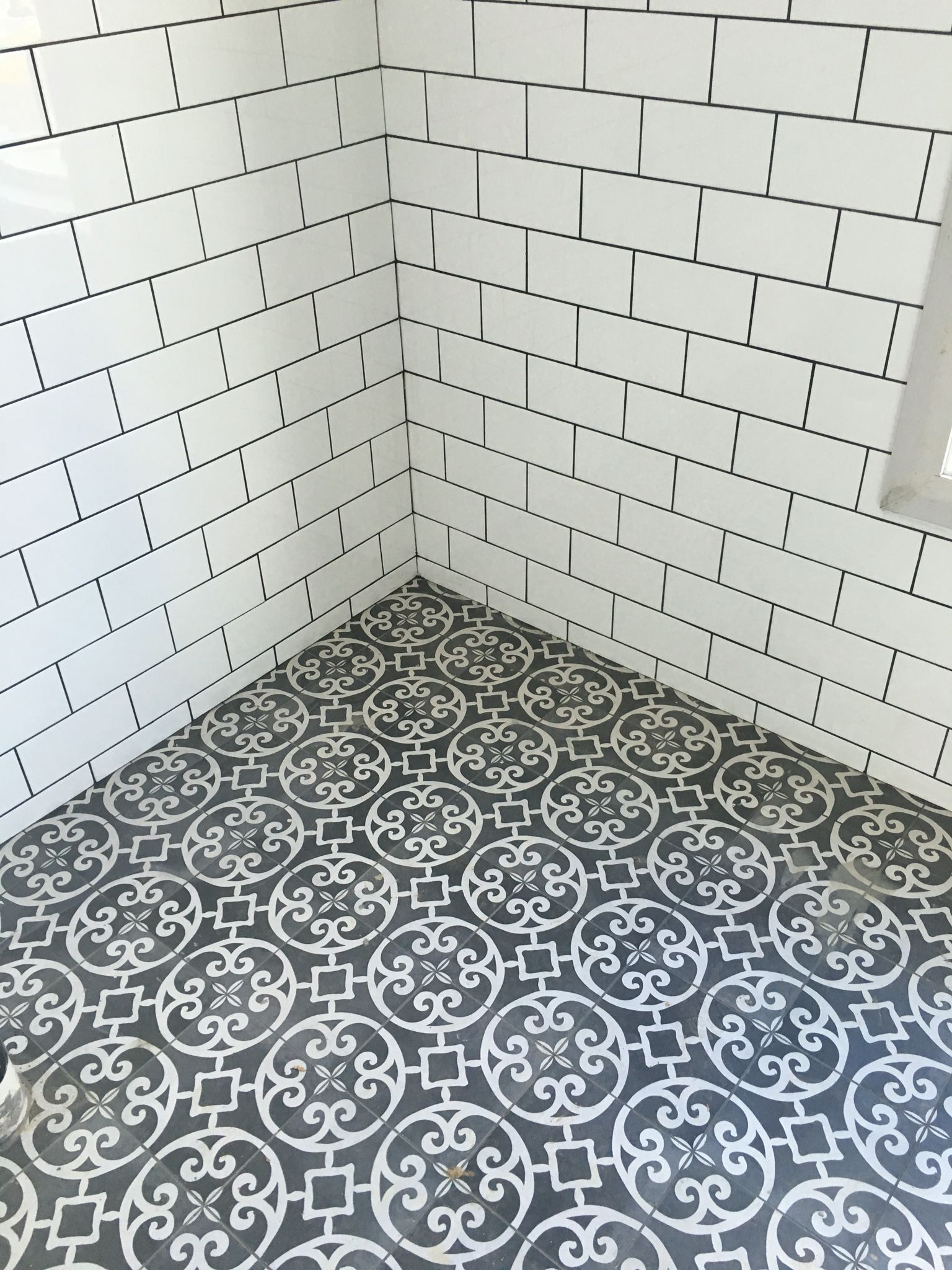 My bathroom southern cross ceramics Casablanca in charcoal ...