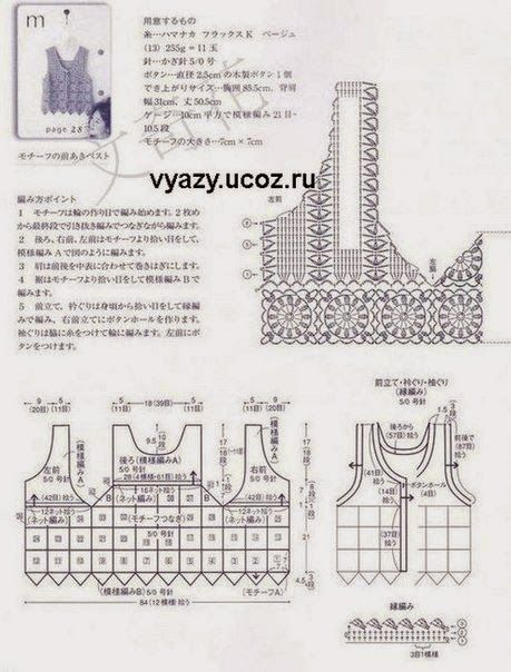 Crochet patterns free crochet charts and explanation for vintage crochet patterns free crochet charts and explanation for vintage timeless vest ccuart Gallery