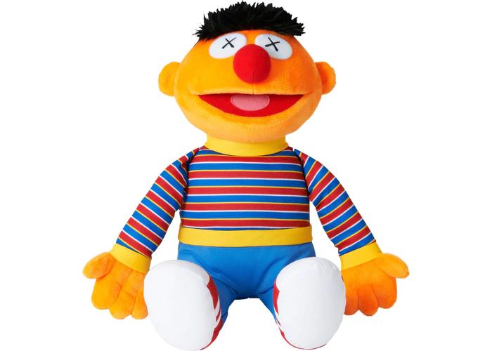 Kaws Sesame Street Uniqlo Ernie Plush Toy Orange In 2021 Ernie Plush Sesame Street Sesame Street Plush