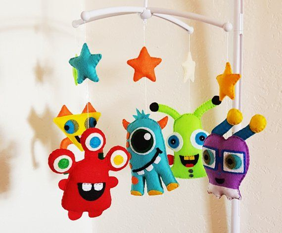 Monster Baby Mobile Cute Boy Crib