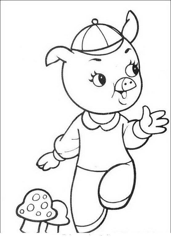 Die drei kleinen Schweinchen Ausmalbilder. Malvorlagen Zeichnung ...