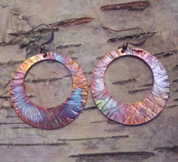 John Rose Copper Earrings