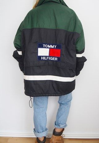 667d88b5 RARE TOMMY HILFIGER 80'S VINTAGE PUFFER JACKET | fashion in 2019 ...
