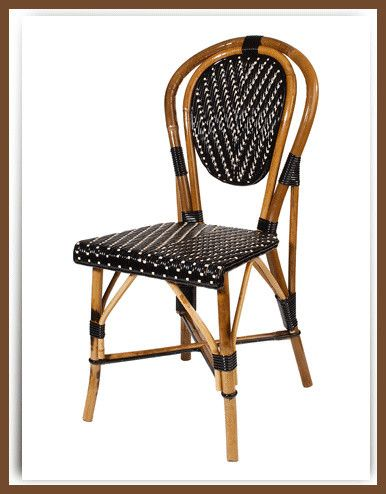 Delightful Armless French Bistro Chair Mediterranean Chairs
