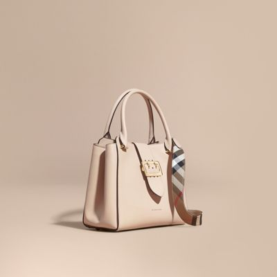 00c9f9921ffd The Medium Buckle Tote in Grainy Leather in Limestone - Women ...