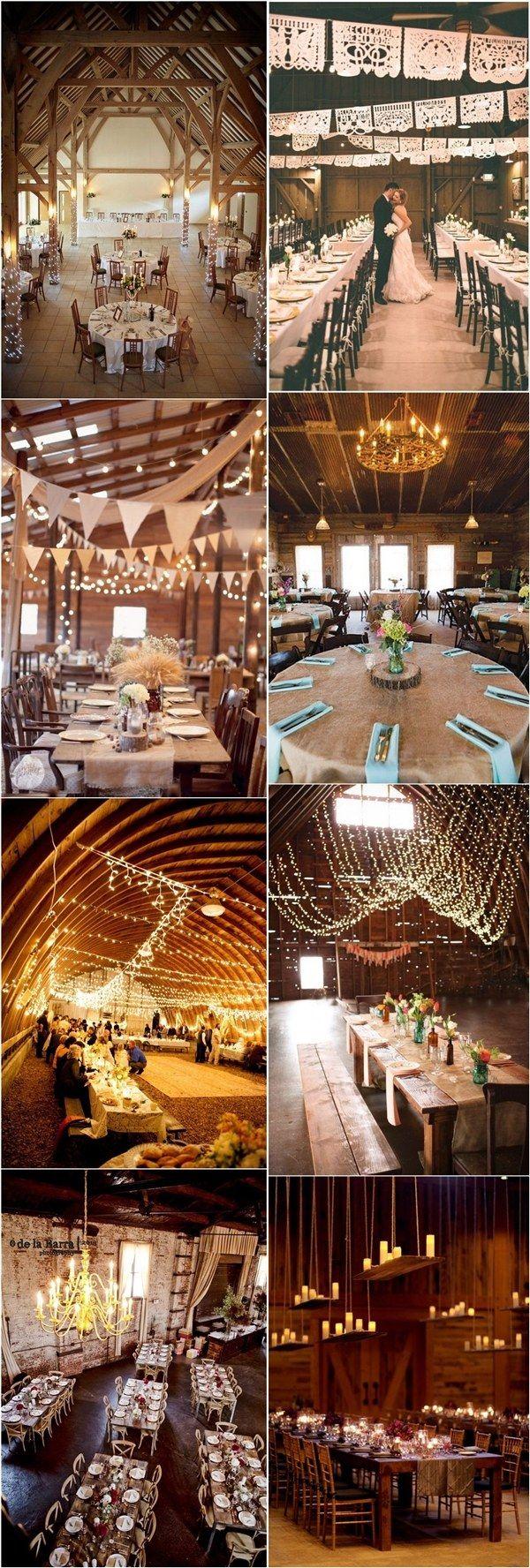 30 Barn Wedding Reception Table Decoration Ideas | Wedding reception ...