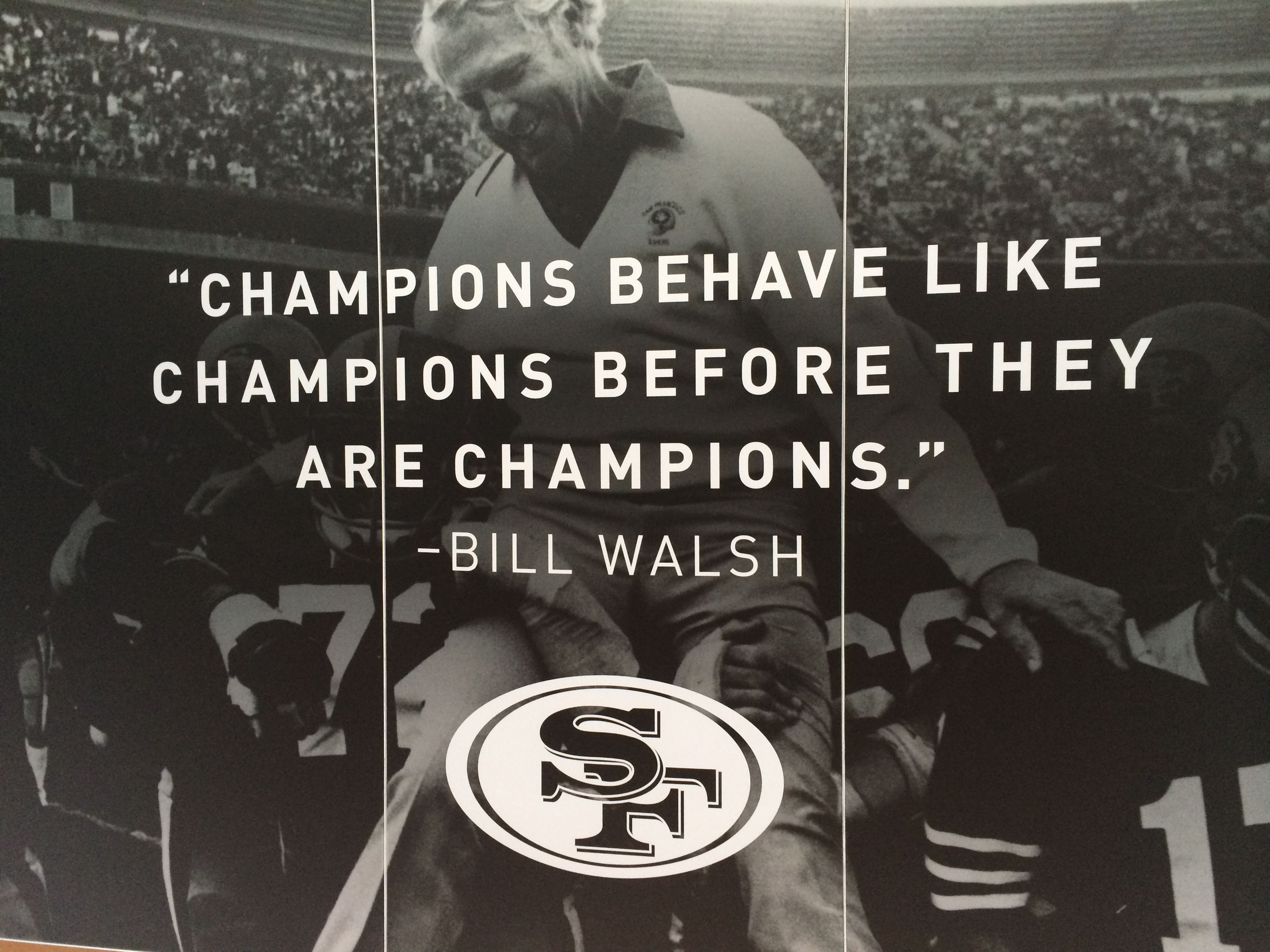 The brilliant Bill Walsh.... Sports psychology quotes