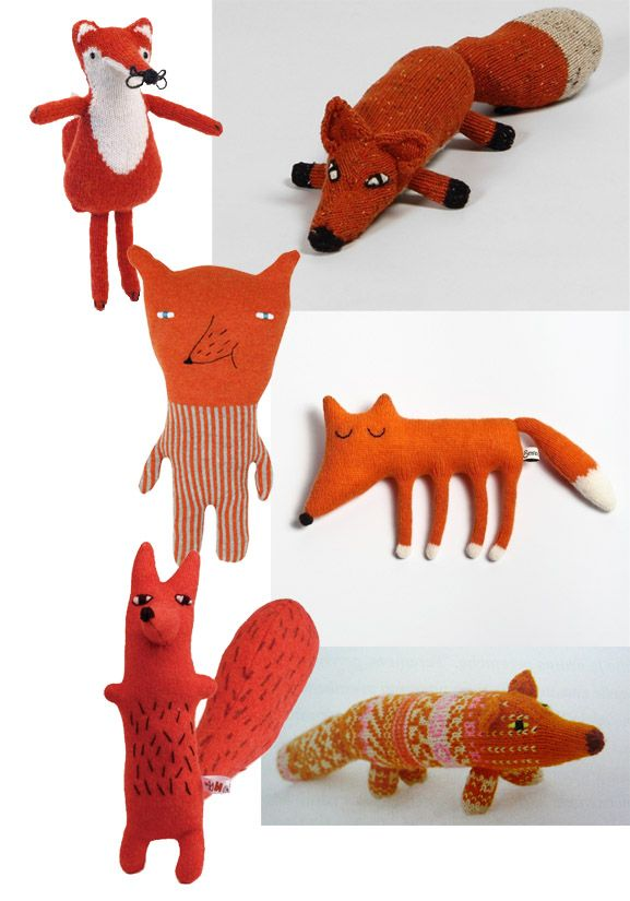 Let's cuddle the knitted fox http://www.knuffelsalacarte.nl/nl/brands/luckyboysunday/