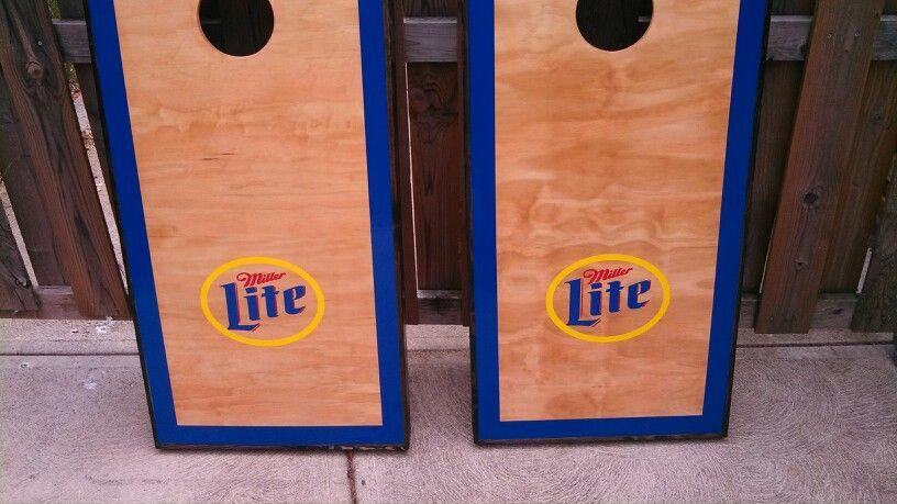 Miller Lite custom Cornhole boards.