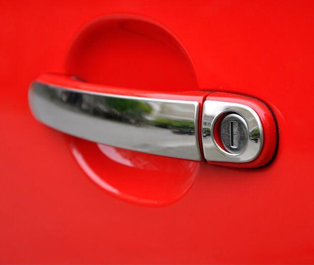 8pcs Stainless Steel Door Handle Cover Sticker For Vw Volkswagen Bora 2009 2010 2012 2013 2014 2015 Stainless Steel Door Handles Vw Polo Gti Skoda Octavia
