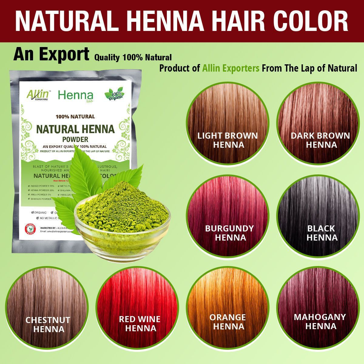 Henna Hair Color 100 Organic And Chemical Free Henna For Hair