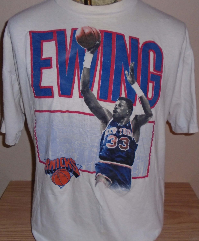 Vintage Patrick Ewing New York Knicks Nba Basketball T Shirt Size Xl By Vintagerhino247 On Etsy New York Knicks Mens Tops Mens Tshirts