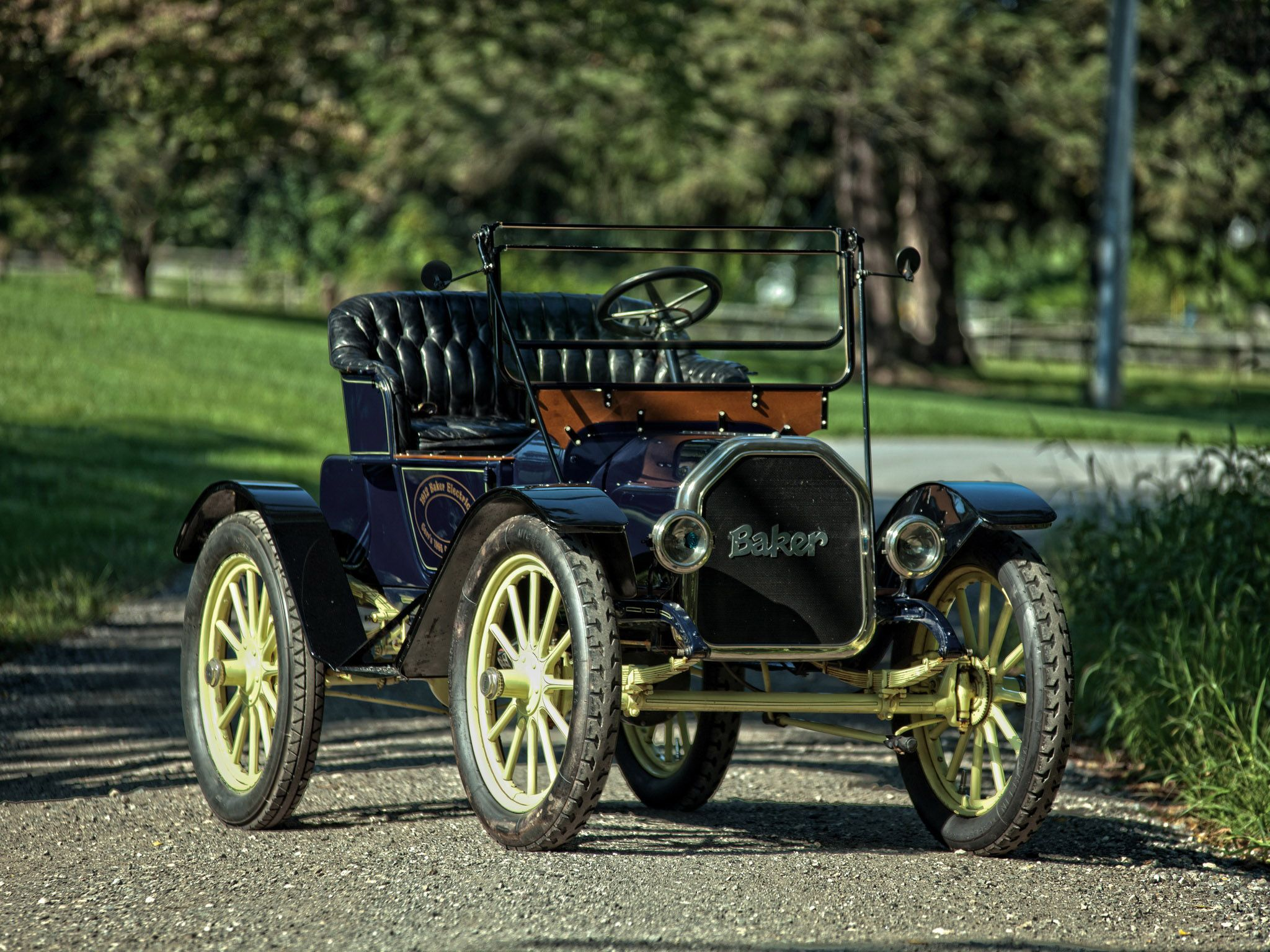 1912 Baker Electric Model W Runabout Electric Cars Vintage Cars Antique Cars