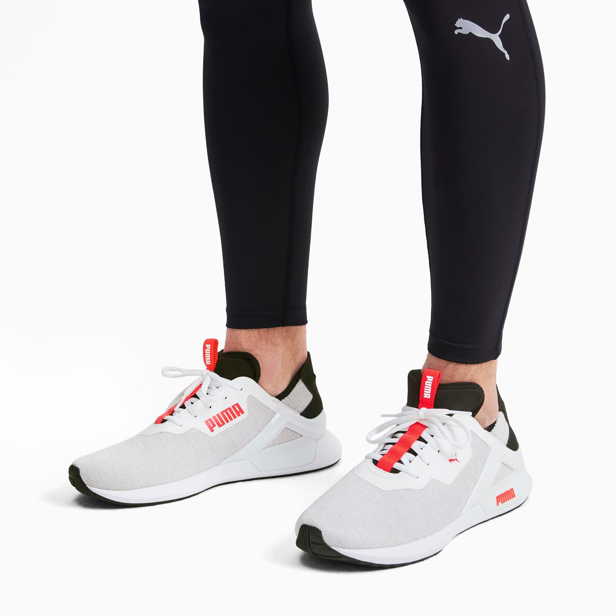 PUMA Rogue x Knit Men's Trainers in WhiteBlackRed size