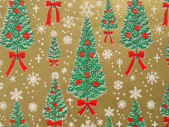 Vintage Gift Wrapping Paper Traditional by TheGOOSEandTheHOUND ...