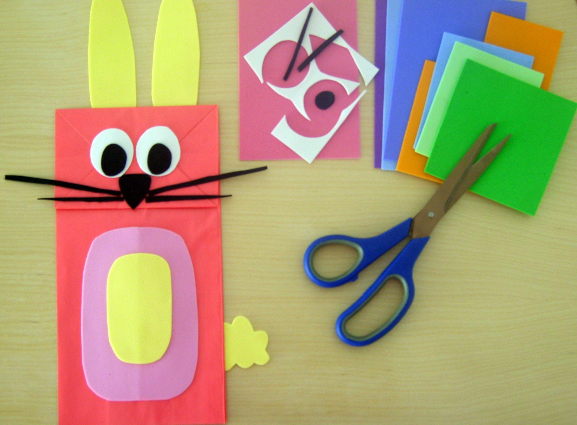 Spring Animal Paper Bag Puppets