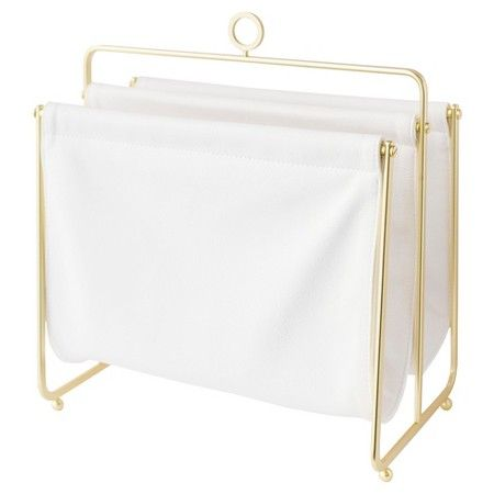 f311304579279 Sugar Paper® Magazine Rack - Cloth with Gold Rack : Target Office Calendar,  The