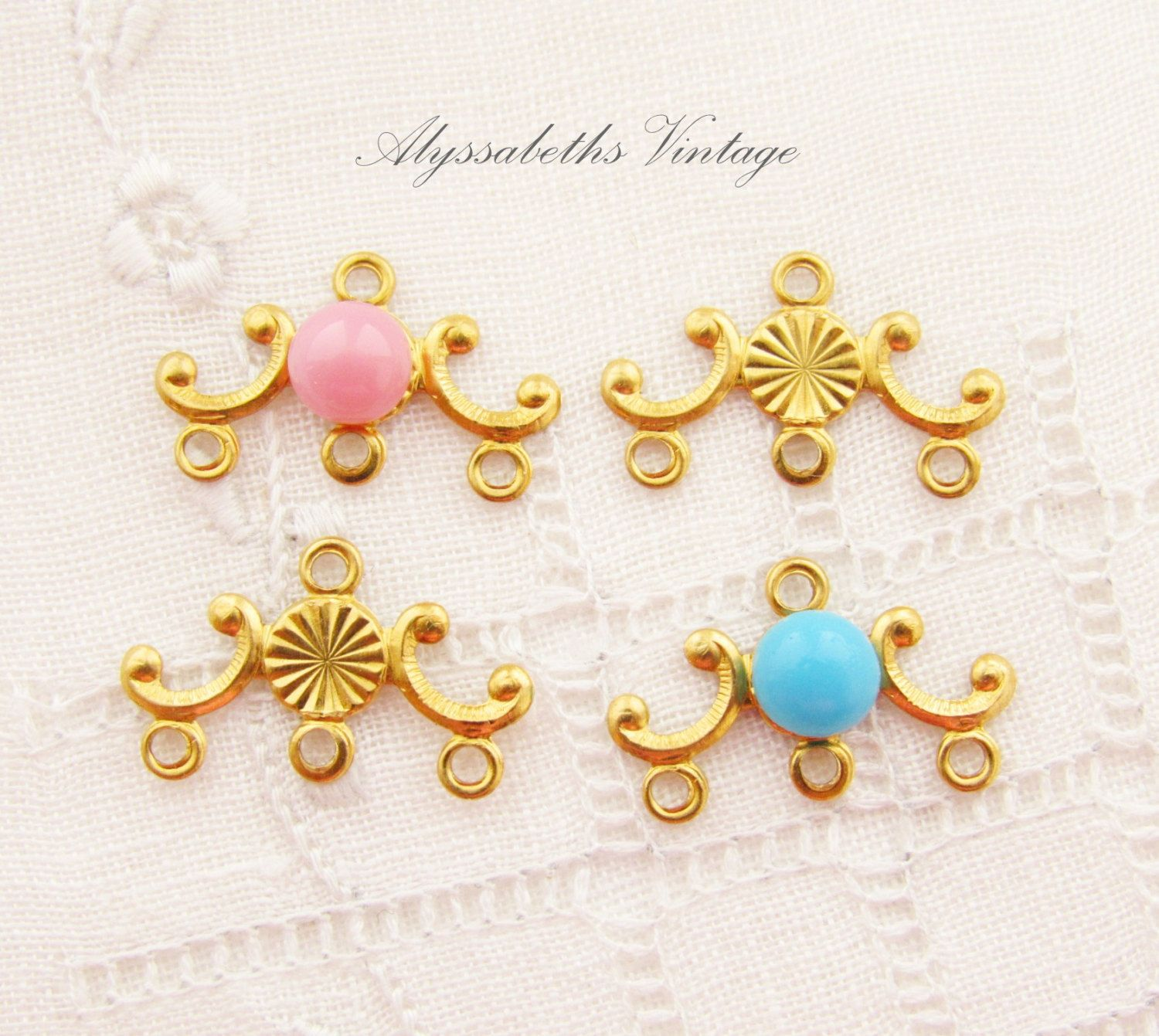 Petite brass scroll chandelier earring findings embossed sunburst petite brass scroll chandelier earring findings embossed sunburst center 5mm setting 6 by alyssabethsvintage on arubaitofo Image collections