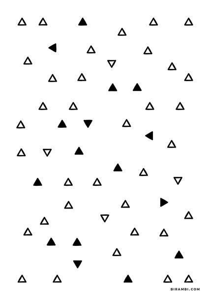 Free Printable Triangle Pattern Graphic Print Great For Minimalistic And Or Scandinavian Inspired Interiors Free Download On A5 Size Des 택스타일 패턴 패턴 디자인