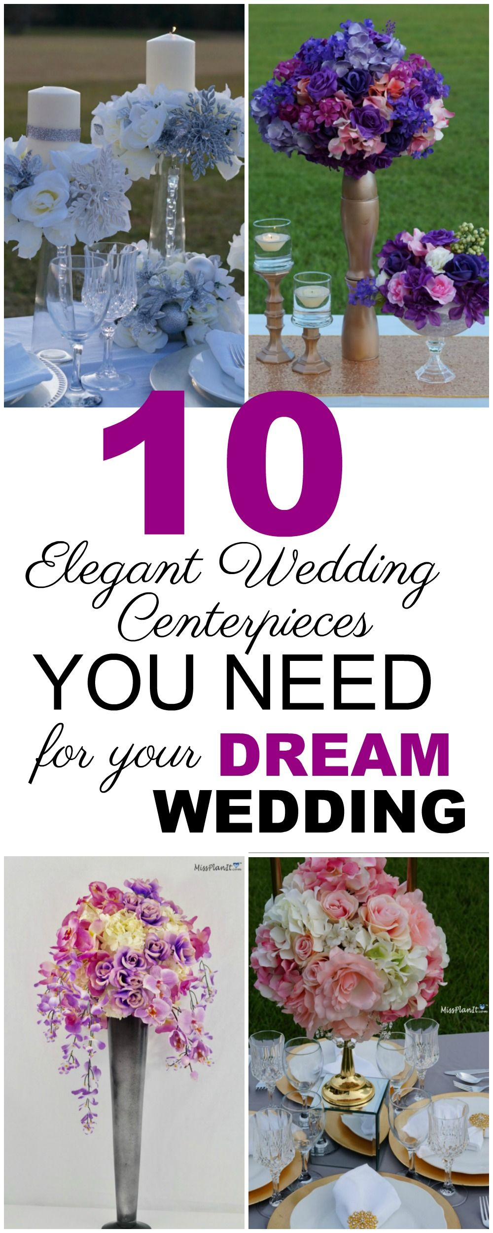 Diy elegant wedding decorations   Elegant Wedding Centerpieces You Need For Your Dream Wedding