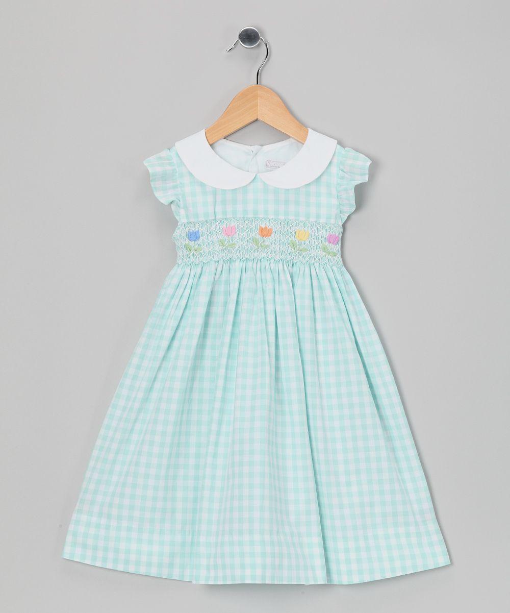 Vintage Gingham Flower Girl Dresses