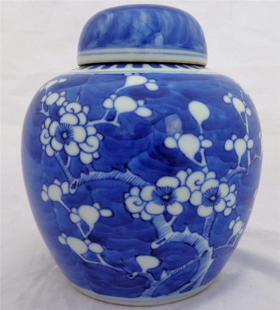 Antique chinese blue white porcelain painted prunus hawthorn antique chinese blue white porcelain painted prunus hawthorn ginger jar 19th c reviewsmspy
