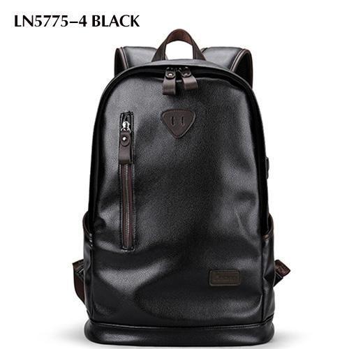 Brand Men Backpack Leather Male Functional bags Men Waterproof backpack PU big capacity Men Bag