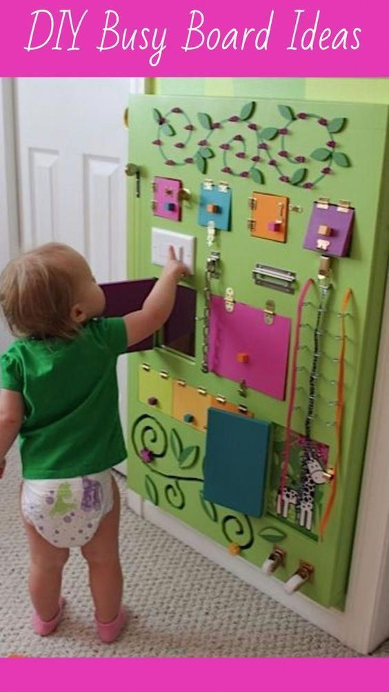 DIY Busy Board Ideas for toddlers | Sensory Board Ideas ...
