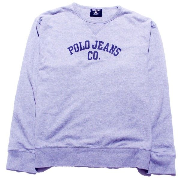 Polo Jeans Sweatshirt Medium Perennial Merchants ( 22) ❤ liked on Polyvore  featuring tops 3a8e92aa4d7d3