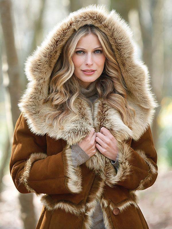 Hooded #Fur Lined Coat. http://www.williamhharrisfurs.com ...