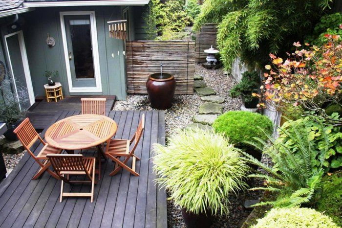 Gartengestaltung Beispiele   Durch Gebüsche, Bäume Und Andere  Gestaltungselemente Können Sie Im Garten Ein U201eBildu201c Malen. Sie Können Die  Perspektive Der.