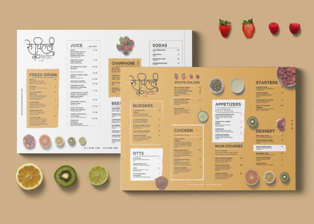 Free Flat Healthy Menu Template Psd Premium Mock Up Menu Mockup Free Menu Template Menu Card Design